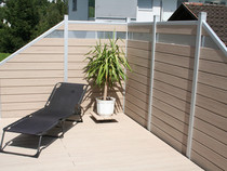 Terrassensichtschutz, Terrasse aus WPC, Aluminium Terrasse