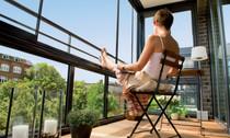 Balkonverglasung, Balkonrenovierung, Balkon Bärike
